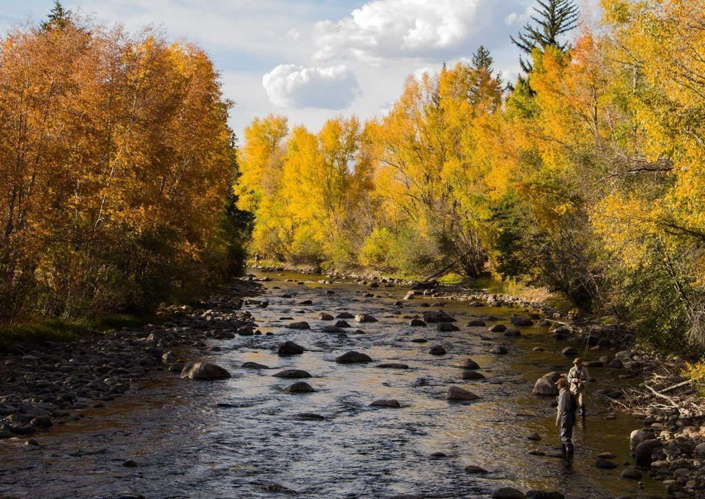 fishing the rivers in autumn