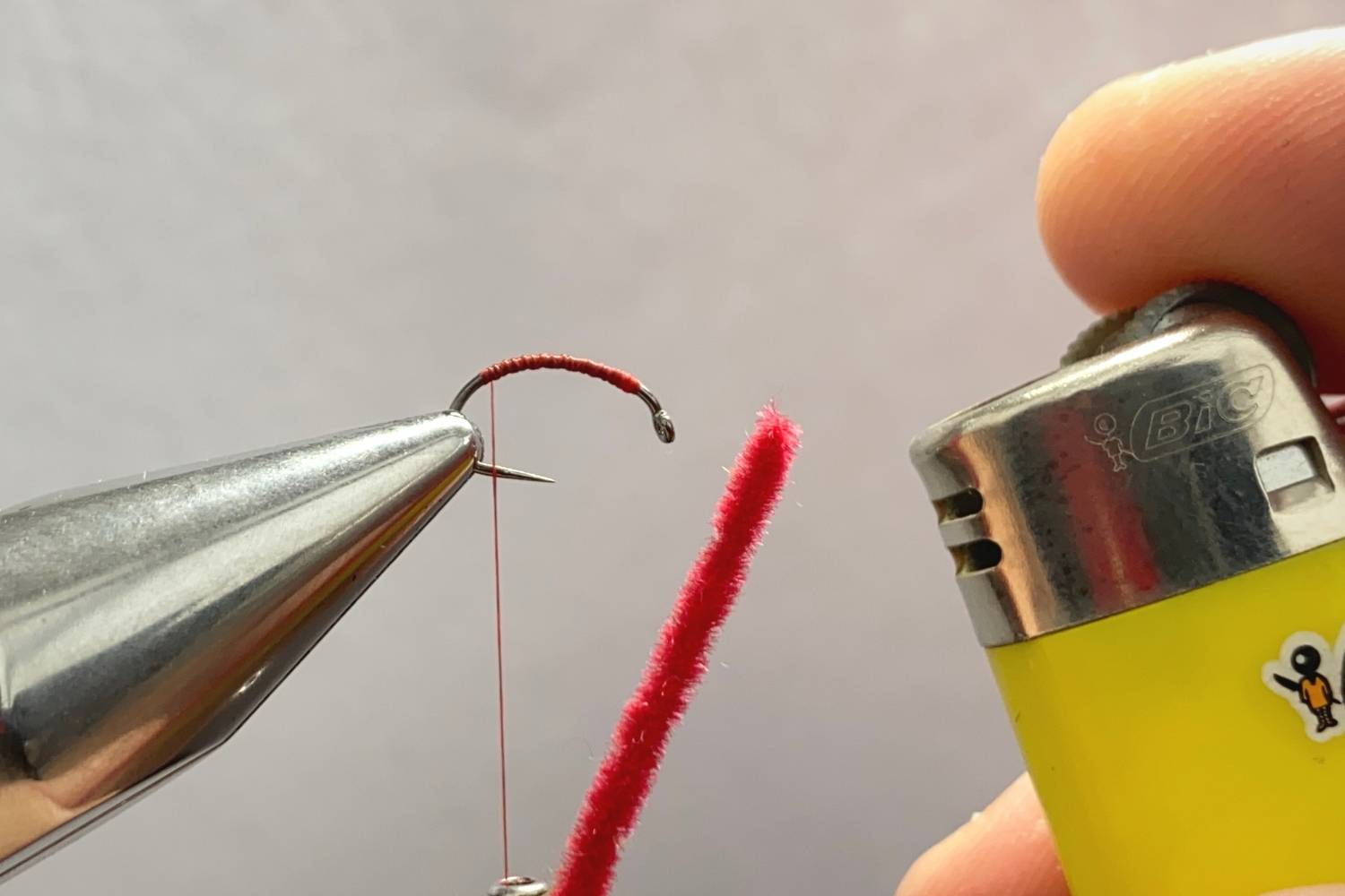 How to tie a San Juan worm fly step 3
