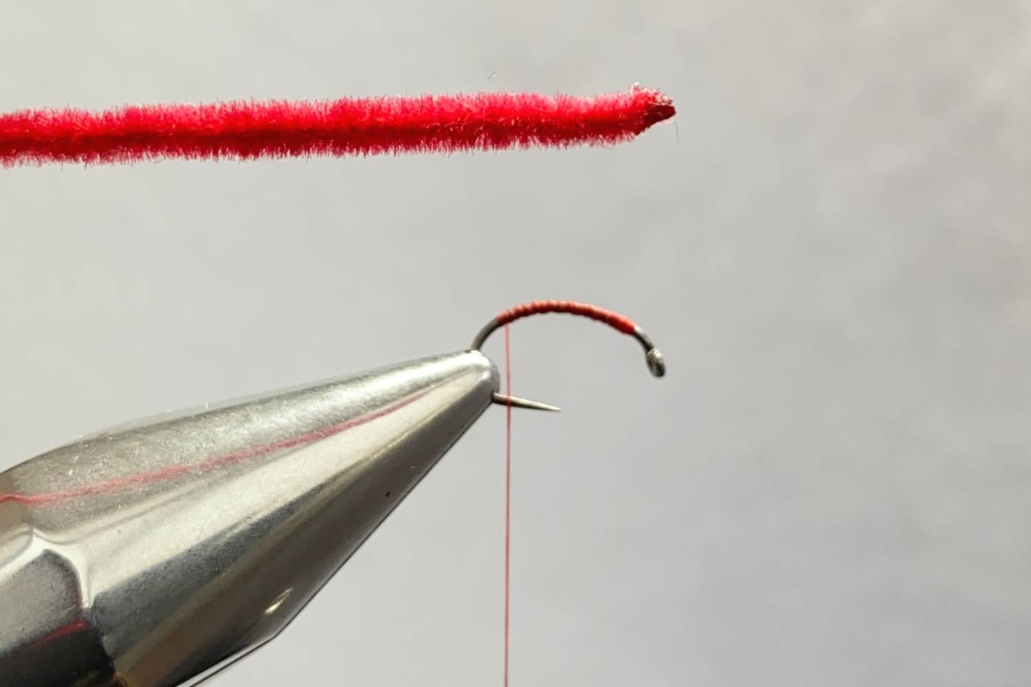 How to tie a San Juan worm fly step 4