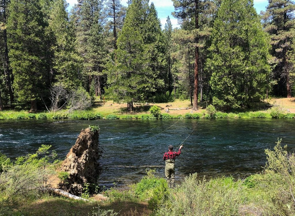 fly fishing bend