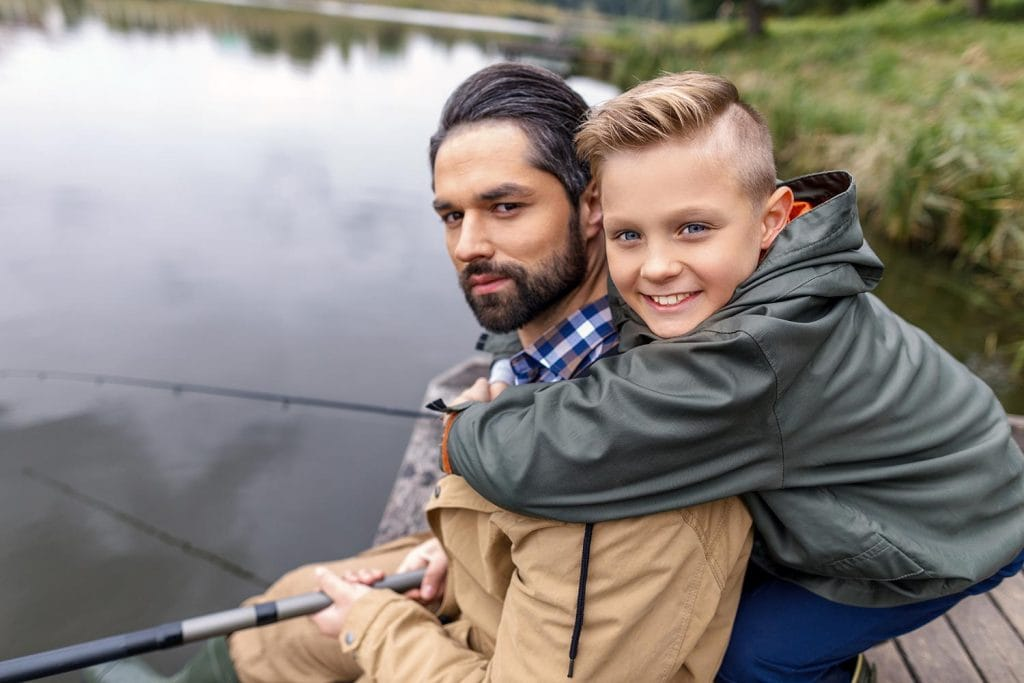 teaching kids to fish