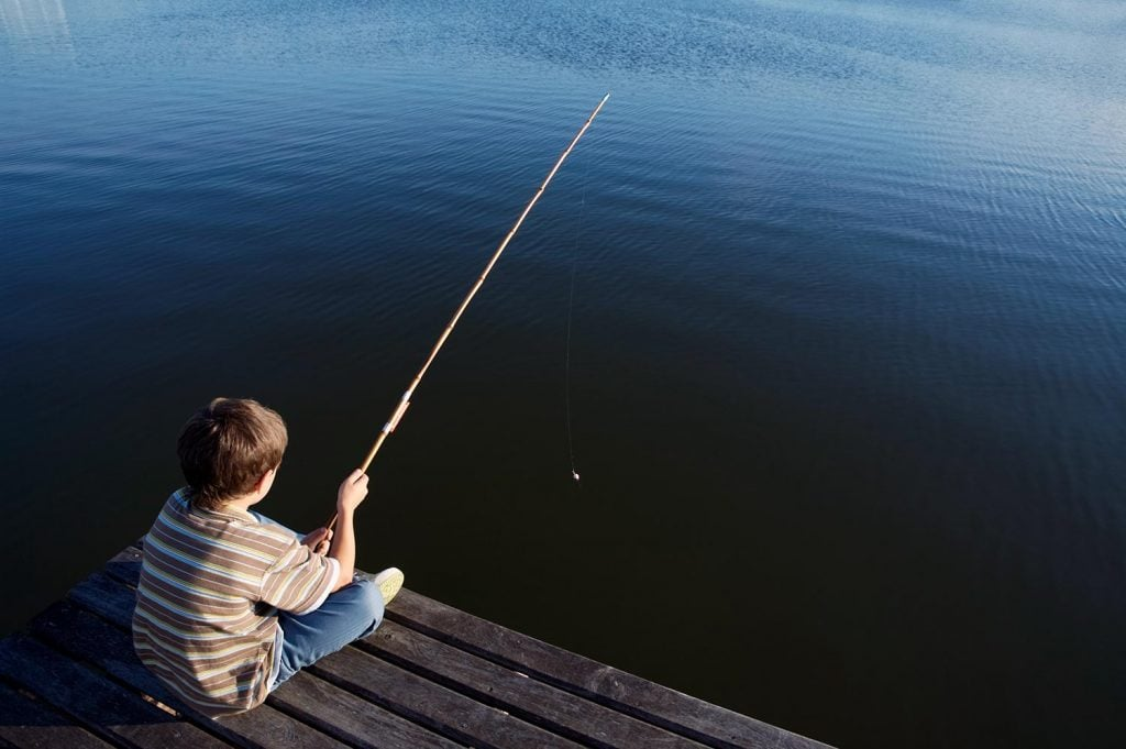 kids fishing poles