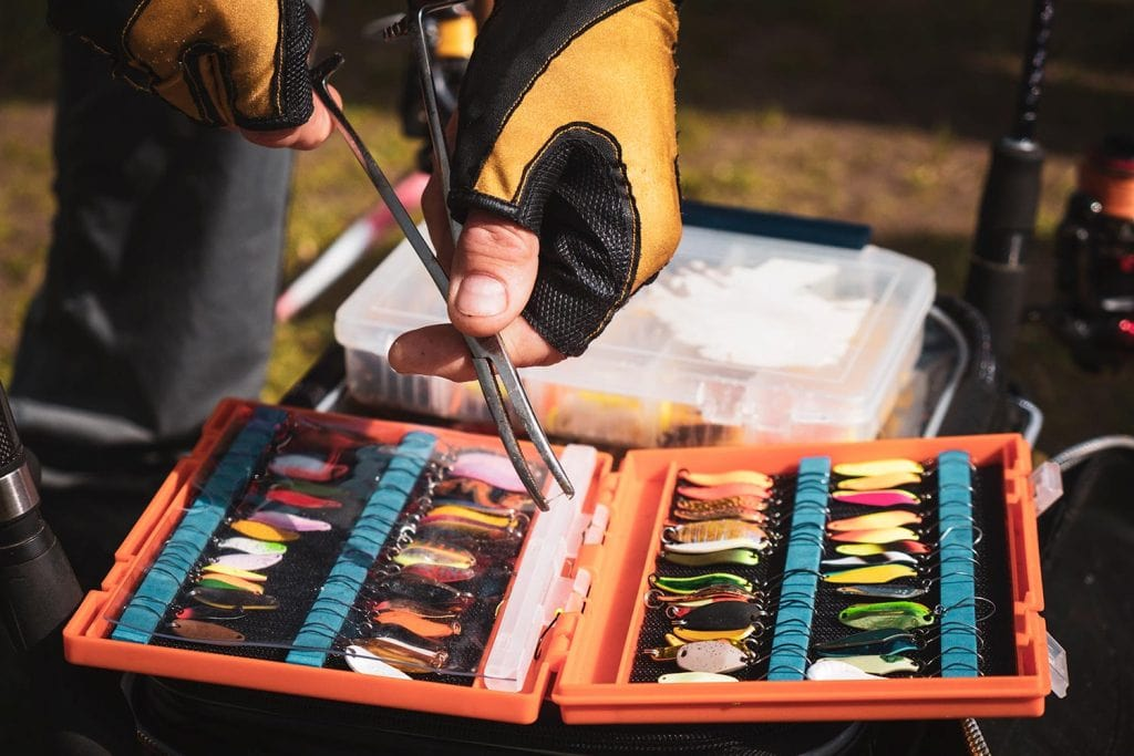 a box of fishing lures