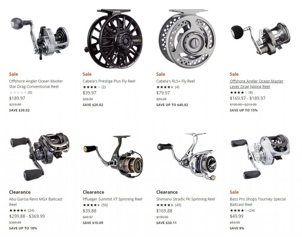 BassProShop discount fly reels