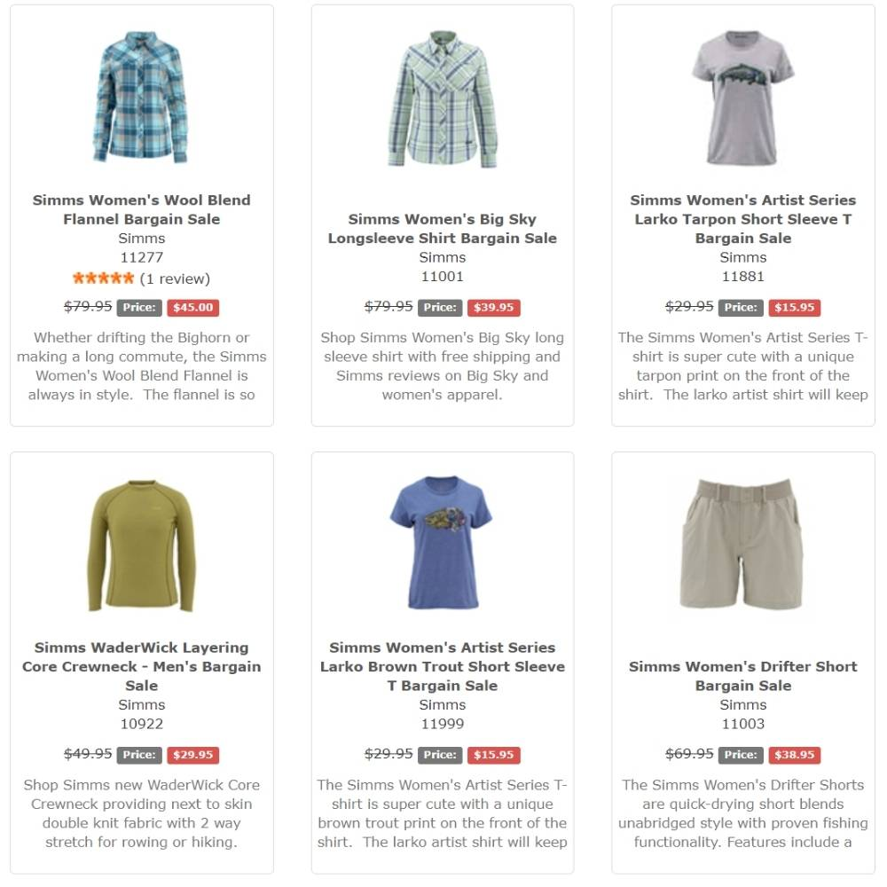 Platte River Fly Shop Apparel Sale