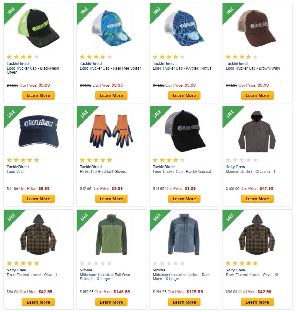 Tackle Direct Apparel Sale