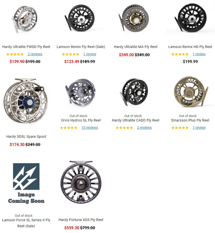 TridentFlyFishing discount fly reels
