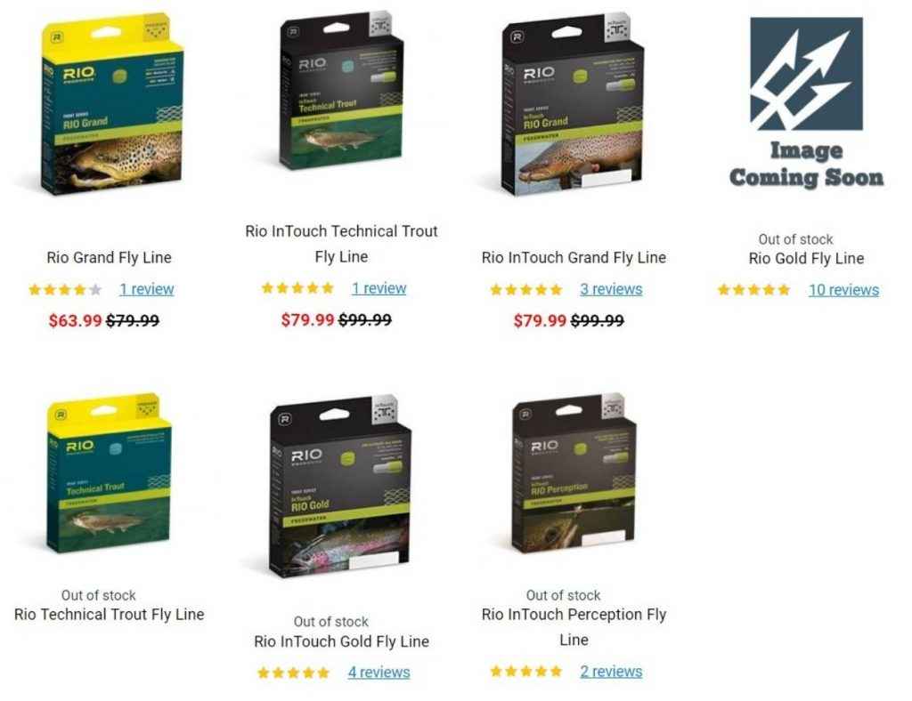 trident discount fly line