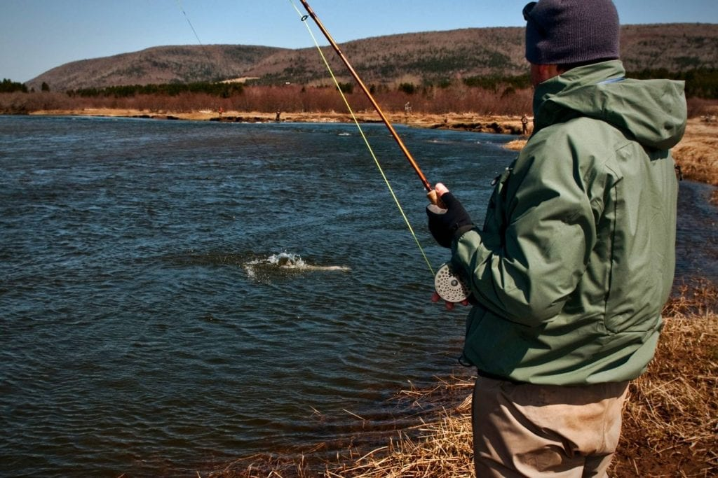 How long will it take to catch a salmon fly fishing