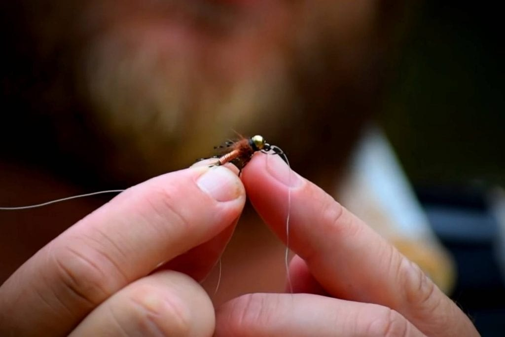 attaching the second fly