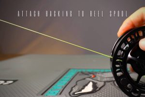 how to attach backing to reel spool