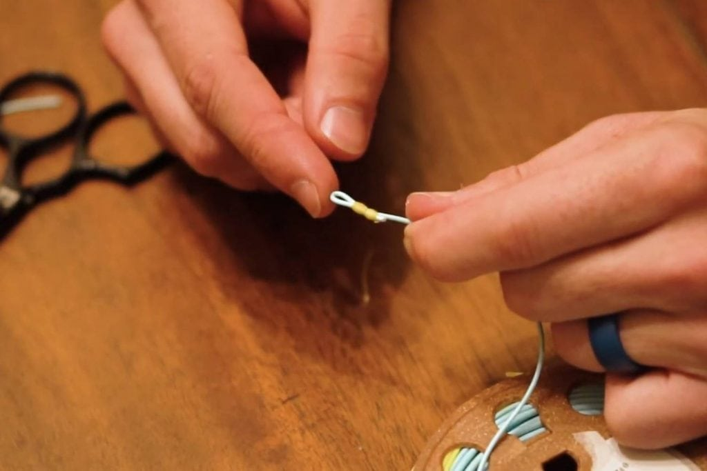 how to tie a double nail knot