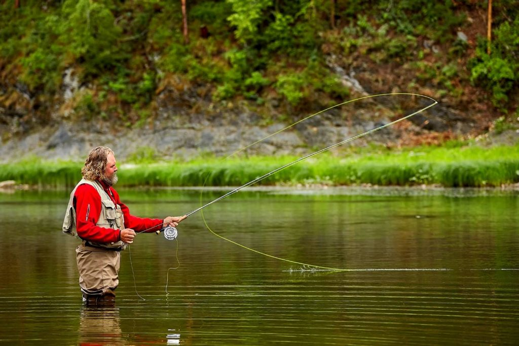 How do you know what weight fly rod you are holding